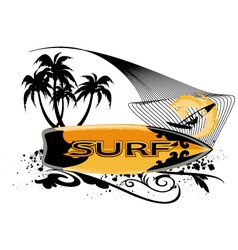 surfboard banner vector image vector image