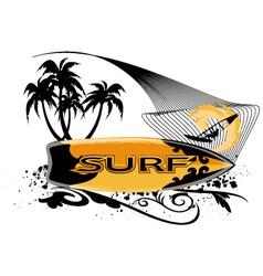 surfboard banner vector image