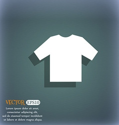 t-shirt icon symbol on the blue-green abstract vector image