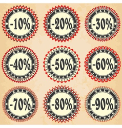 Vintage label sales and discount vector image vector image