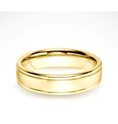 Wedding gold ring isolated on white vector image vector image