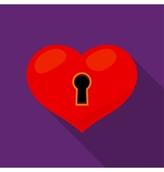 Heart lock icon vector image