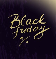 Black friday lettering on abstract artistic vector