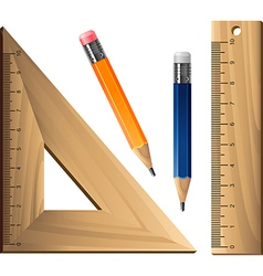 Pencil with a ruler vector image