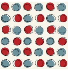 Mid century seamless cirlce pattern vector