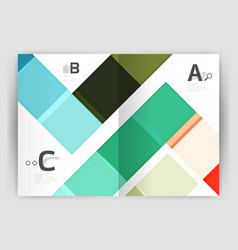 geometrical brochure a4 business template vector image