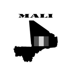 Symbol of mali and map vector