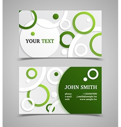 Green and gray modern business card template vector