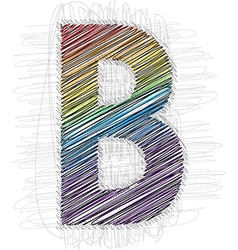 Hand draw font letter b vector