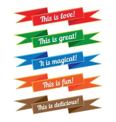 Ribbon with inscriptions Set vector image