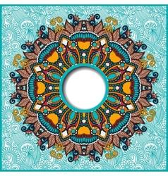 floral round pattern in ukrainian oriental ethnic vector image