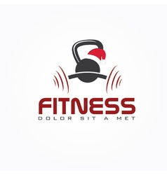 Kettlebell with mery christmas hat vector