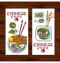 Chinese food banners vector