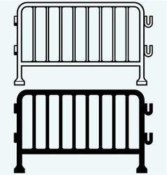 Steel barricades vector