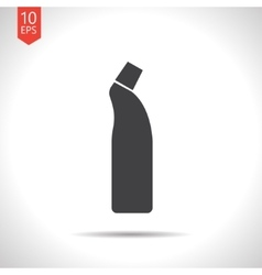 Flat cleaner bottle vector