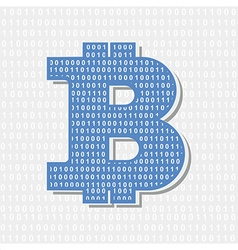Bitcoin symbol cryptography vector