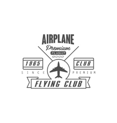 Airplane premium club emblem design vector