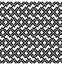 Abstract geometric seamless pattern in black and vector image vector image