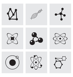 atom icon set vector image vector image
