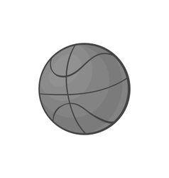 Basketball icon black monochrome style vector