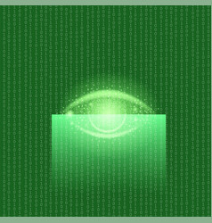 Biometric identification system for eyes vector