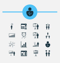 Board icons set collection of decision making vector