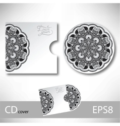 CD cover design template with grey ukrainian vector image vector image
