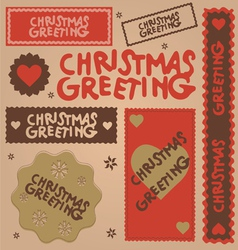 christmas greeting design elements vector image vector image