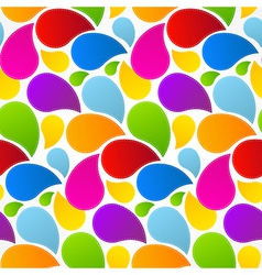 Colorful Retro Abstract Liquid Seamless Pattern - vector image vector image