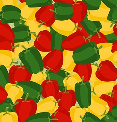 Coloured sweet pepper pattern seamless background vector