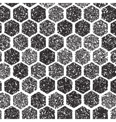 Dotwork Hexagon Pattern halftone Hexagon vector image vector image