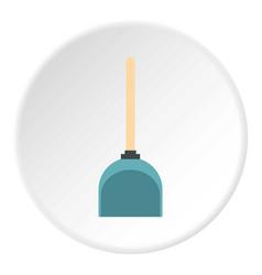 Dustpan icon circle vector