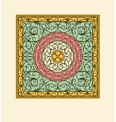 Elegant drapery tile design floral elements vector image