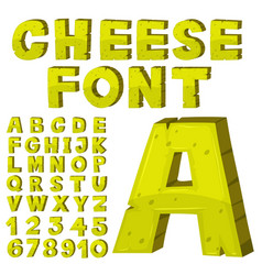 Font design for english alphabets in yellow vector