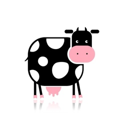 Funny cow for your design vector image