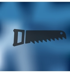 Hand saw icon on blurred background vector