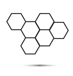 honeycomb honey icon on white background vector image vector image