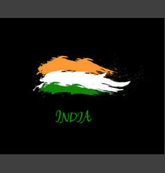 Independence day of india hand drawn sign on black vector
