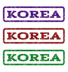 Korea watermark stamp vector