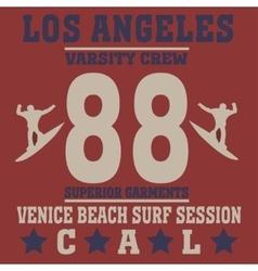 Los angeles california surf vector