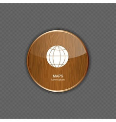 Map wood application icons vector image vector image