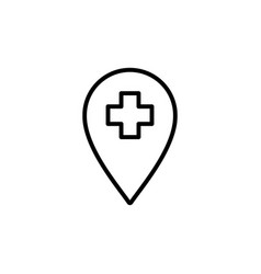 medical help position icon black on white vector image vector image