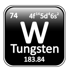 Periodic table element tungsten icon vector