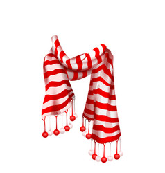 red striped santa claus scarf christmas accessory vector image