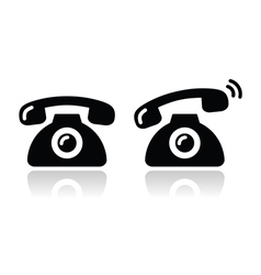 Ringing phone - contat icons set vector