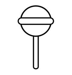 round lollipop icon outline line style vector image