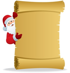 Santa with scroll vector