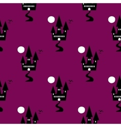 Seamless Pattern Halloween Ghost vector image vector image