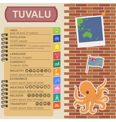 Tuvalu infographics statistical data sights vector