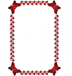 valentines day frame vector image vector image